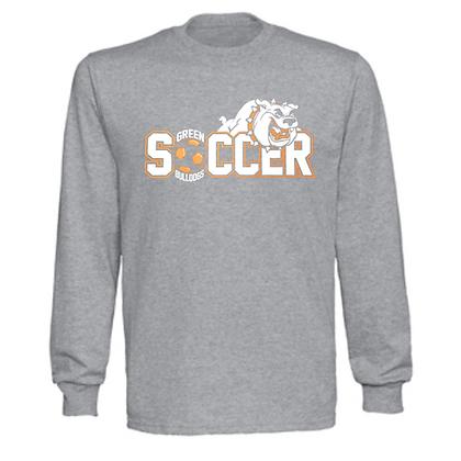 Green Bulldogs Soccer Logo #46 Unisex Long Sleeve T-Shirt