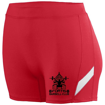 Fortis Weightlifting Barbell Club (Black Logo) Ladies Shorts