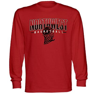 Northwest Indians Basketball Logo #34 (Black) Long Sleeve