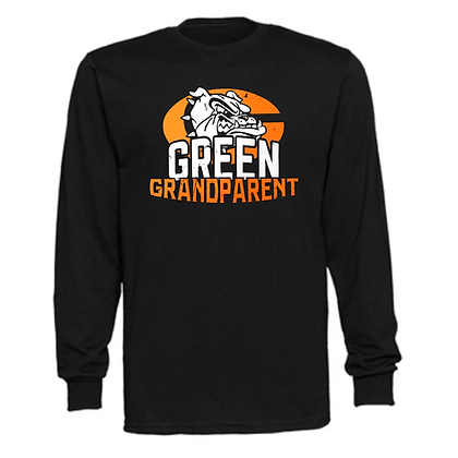 Green Bulldogs General Logo #10 Unisex Long Sleeve T-Shirt