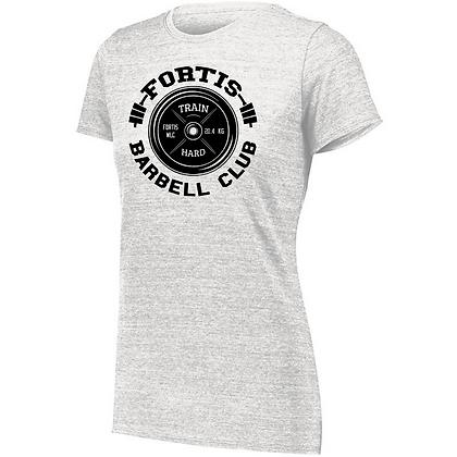 Fortis Weightlifting Barbell Club C (Black Logo) Ladies Tri-blend T-Shirt