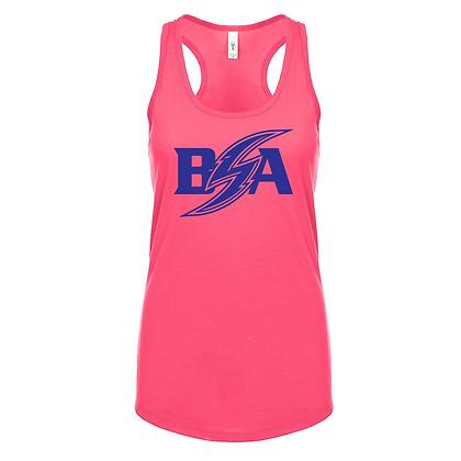 Blue Storm Athletics Logo (Blue) Women's Racerback Tank