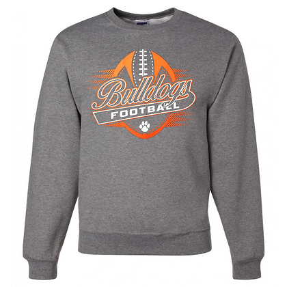 Green Bulldogs Football Logo #36 Unisex Crew Neck Sweater