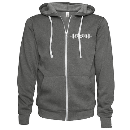 Canal Fulton Crossfit Left Chest (White) Unisex Zip Hoodie