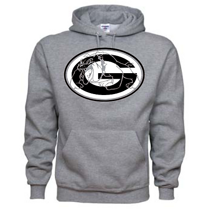 Green Bulldogs General Logo #8 Unisex Hoodie