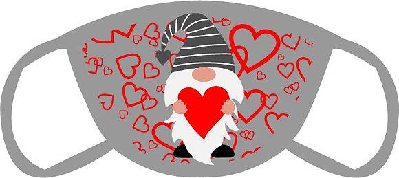 Valentine Gnome Face Mask