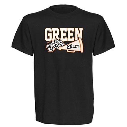Green Bulldogs Cheer Logo #30 Unisex T-Shirt