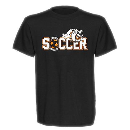 Green Bulldogs Soccer Logo #46 Unisex T-Shirt