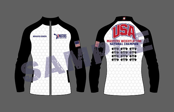 Masters Weightlifting National Ladies Jacket With Years