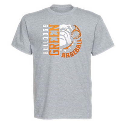 Green Bulldog Baseball Logo #24 Unisex T-Shirt