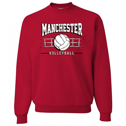 Manchester Panthers Volleyball Logo #83 Unisex Crew Neck Sweater