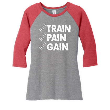 Train Pain Gain 3/4 Sleeve T-Shirt