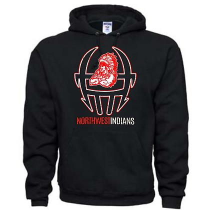 Northwest Indians Football Logo #49 Unisex Hoodie