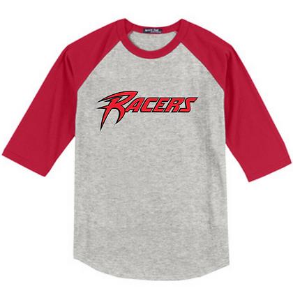 Akron Racers Unisex Baseball Tee Design 1
