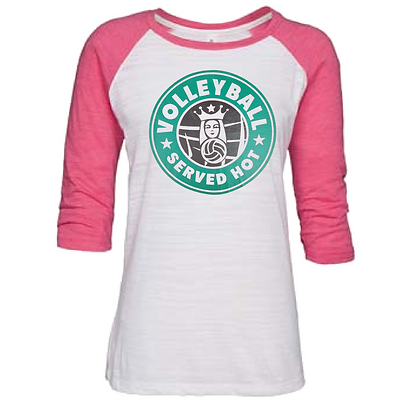 Gameday Sportswear Volleyball Served Hot (Black) Women's Baseball Tee