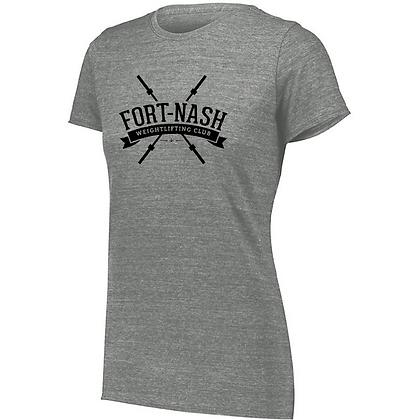 Fort Nash Weightlifting Club Logo B Ladies Tri-blend T-Shirt