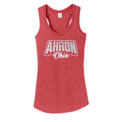 Akron Ohio Women's Scoop Racerback Tank