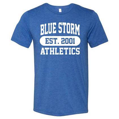Blue Storm Athletics Est. 2001 (White) Unisex Triblend T-Shirt