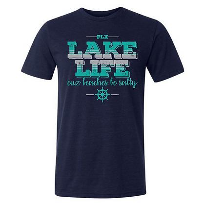 Lake Life Cuz Beaches Be Salty Unisex Triblend T-Shirt