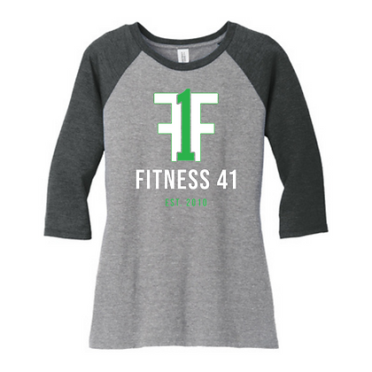 Fitness Forty One Ladies Baseball Tee
