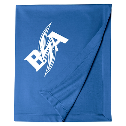 Blue Storm Athletics Logo (White) Blanket