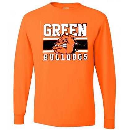 Green Bulldogs General Logo #2 Unisex Long Sleeve T-Shirt