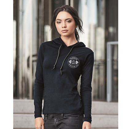 Wilmington Emblem Women's Anvil Long Sleeve Hooded Tee