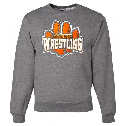 Green Bulldogs Wrestling Logo #59 Unisex Crew Neck Sweater