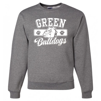 Green Bulldogs General Logo #1 Unisex Crew Neck Sweatshirt