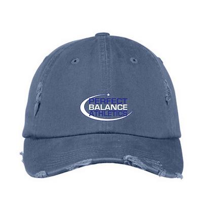 Perfect Balance Athletics Logo (White & Blue) Distressed Ball C