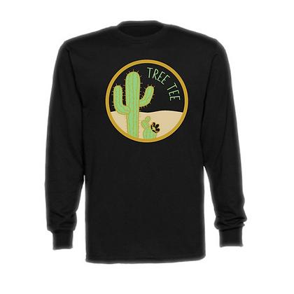 Tree Tee Cactus Adult Unisex Long Sleeve T-Shirt