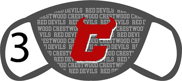 "Crestwood ""C"" Face Mask"
