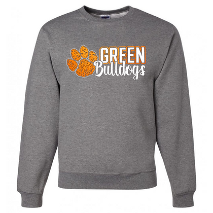 Green Bulldogs General Logo #5 Unisex Crew Neck Sweatshirt