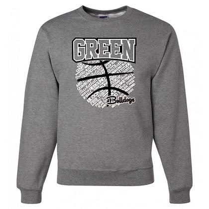 Green Bulldogs Basketball Logo #26 Unisex Crew Neck Sweater