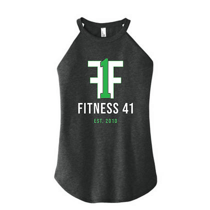 Fitness Forty One High Neck Tank