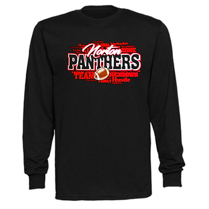 Norton Panthers Football Logo #45 Unisex Long Sleeve T-Shirt