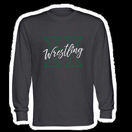Highland Wrestling Unisex Long Sleeve Shirt - Script (GLITTER OPTION)