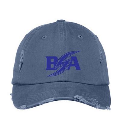 Blue Storm Athletics Logo (Blue) Distressed Ball Cap