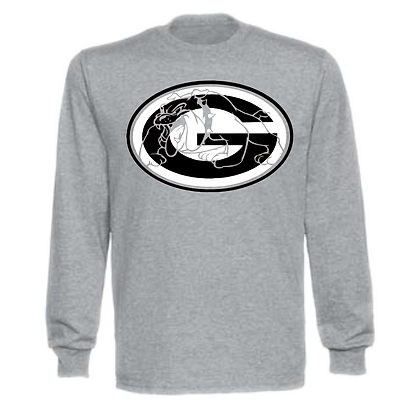 Green Bulldogs General Logo #8 Unisex Long Sleeve T-Shirt