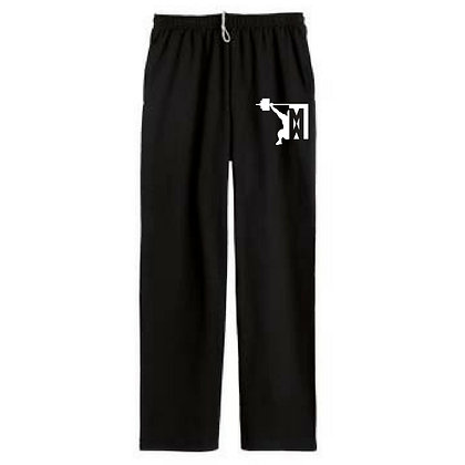 Masters Weightlifting Unisex Open Bottom Sweatpants
