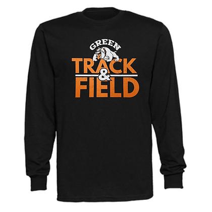 Green Bulldogs Track Logo #54 Unisex Long Sleeve T-Shirt