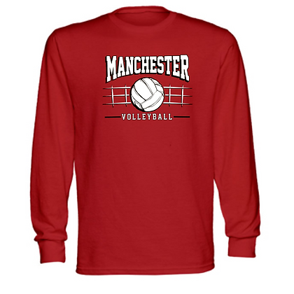 Manchester Panthers Volleyball Logo #83 Unisex Long Sleeve T-Shirt