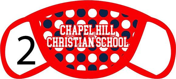 Chapel Hill Christian Polka Dots Face Mask