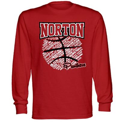Norton Panthers Basketball Logo #38 Unisex Long Sleeve T-Shirt