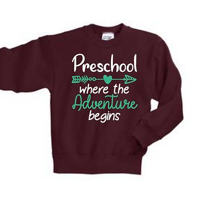 Adventure Begins Youth Crewneck Sweatshirt