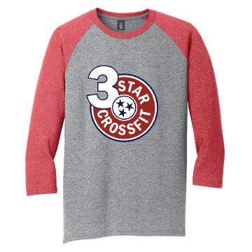 3 Star Crossfit Unisex Baseball Tee