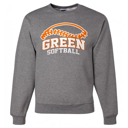 Green Bulldogs Softball Logo #50 Unisex Crew Neck Sweater