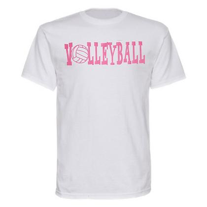 Gameday Sportswear Pink Volleyball Logo Unisex T-Shirt