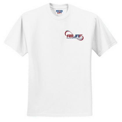 AMJRF Navy and Maroon Left Chest Unisex T-Shirt