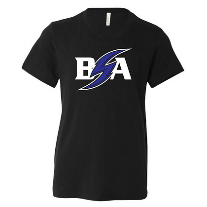 Blue Storm Athletics Logo (Blue & White) Youth T-Shirt (Front Only)